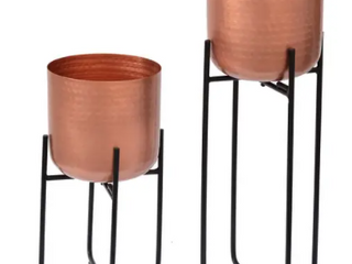 Set of 2 Planters Copper