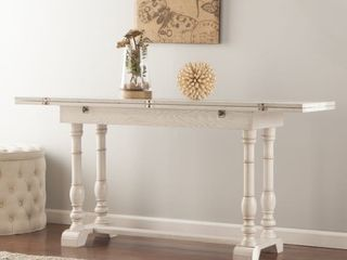 Eddlewood Farmhouse Dropleaf Trestle Coffee Table White