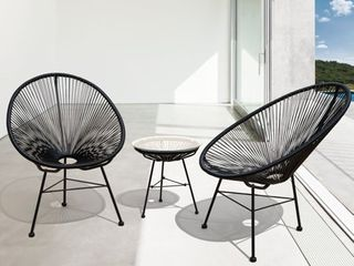 Sarcelles Modern Wicker Patio Chairs by Corvus  Set of 2    Retail 212 00