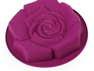 Home Value Silicone Rose  Shaped Bunt Mold  Purple