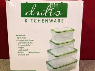 Dutis Microwave Container Set   4 Piece
