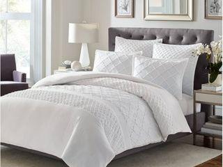 Stone Cottage Mosaic 3-piece White Textured Cotton Comforter Set- Retail:$123.99
