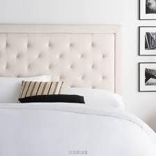 upholstered headboard only with diamond tufting pearl fabric