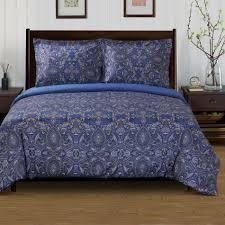 Miranda Haus Maywood 300 Thread Count Reversible Cotton Duvet Cover Set