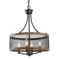 Rustic Chandelier 4-lights Kitchen Island Lighting for Dining Room - W16