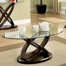 Atwood Contemporary Coffee Table in Dark Walnut by Furniture of America