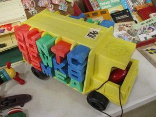 Mattel Bus w letters