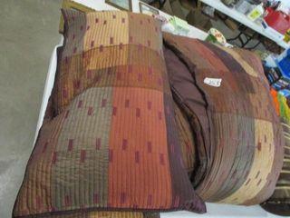 King Size Bedspread  Shams  Decorative Pillows