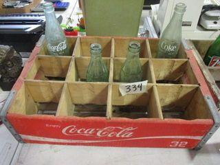 Coca Cola Wood Box   Bottles