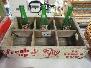7 Up Wood Box   Bottles