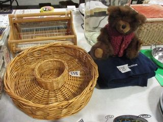 Bear  Blanket   Basket