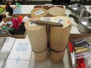 4   Round Wood Boxes