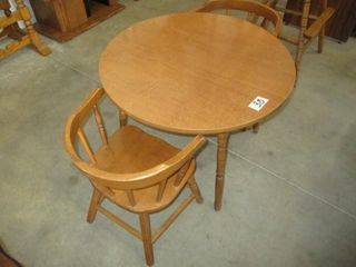 Child's Maple Table w/2 Chairs