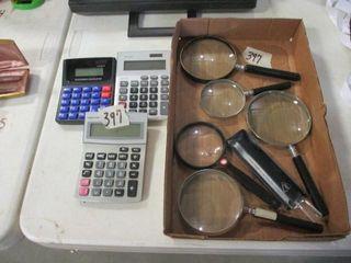 Calculators   Magnifing Glasses