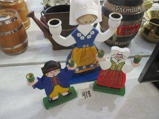 Swedish Character Candle Holders