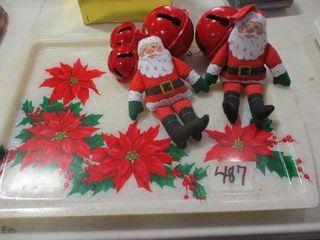 Trays  Bells  Santas