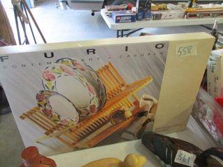 Furio Beechwood Folding Dish Rack