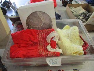 Plastic Box w Baby Clothes