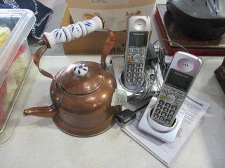 Cordless Phones   Copper Tea Kettle