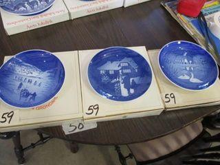 3 B G Plates 1972  1973  1974