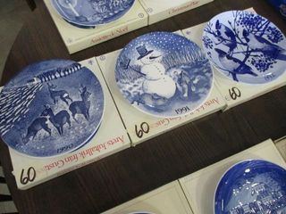 3 Gustavsberg Plates 1990  1991  1992