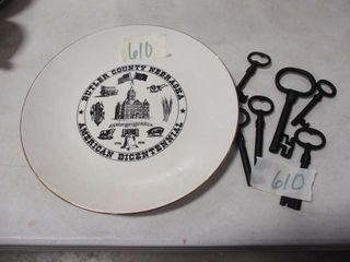 Butler County Bicentennial Plate   Keys