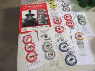 Camp Creek Threashing Button Collection
