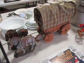 Covered Wagon   2 Horses