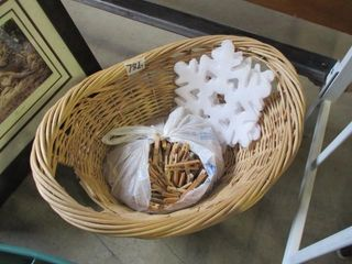 Clothes Pins   Basket