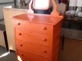 Chest of Drawers w/Bevel Edge Mirror