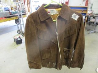 Suede leather Size 14 Girls Coat