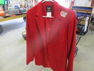 Red Blazer Size 7 8