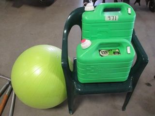 Chair  Cans  Exercise ball