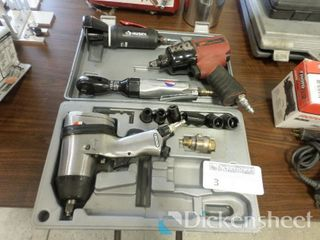 Pneumatic Tools Lot-(2) Impacts, Right Angle