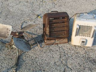 3  Vintage Fan and Heaters