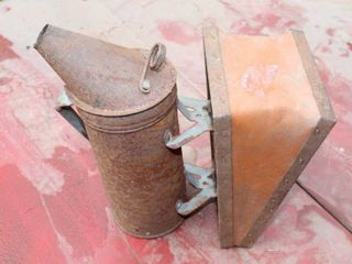 Antique Dadan   Sons Smoker leather for Beekeeping