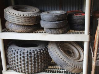 lot of Miscellaneous Tires  Wheels and Casters