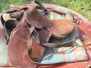 Antique English Horse Saddle and Blanket