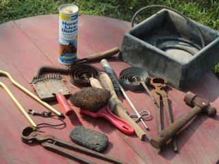 Horse Tack  Grooming Tools and Heated Feeder Bowl