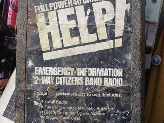 Vintage HElP Emergency 2 Way Citizens Band Radio