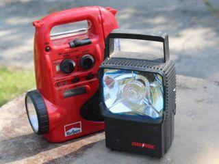 Battery Operated Portable Flashlights  Radio  Clocks