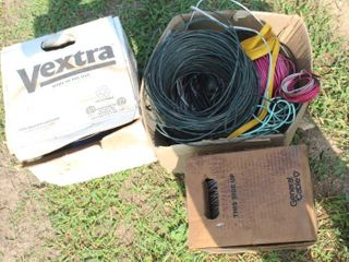 large Assorted lot of Cords  Cables and Wires  600V Hatfield Hatvinol  CAT5E  OFS Optical Cable  CMX Outdoor General Cable   More
