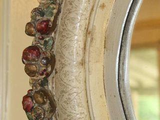 Antique Ornate Decorative Painted Detail Mirror 17