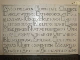 Cool Carved Stone Plaque  ABC s Of Aging Gracefully  17  Wide