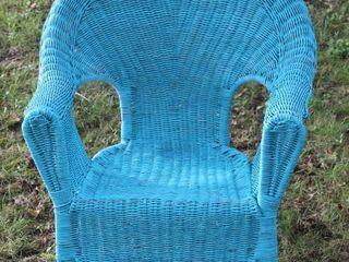 Vintage Wicker Woven Garden Chair