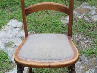 Antique Padded Seat Chair