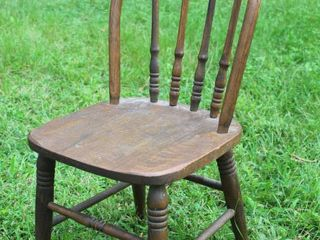 Cool Antique Childs Spindle Back Chair
