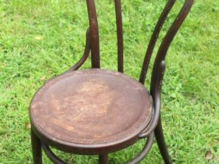 Antique 19th Century Bentwood Thonet Embossed Leather Chair