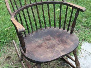 Antique Sackback Windsor Rocking Chair