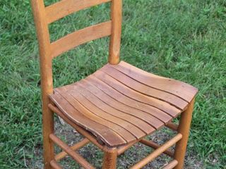 Vintage Ladderback Slat Seat Chair